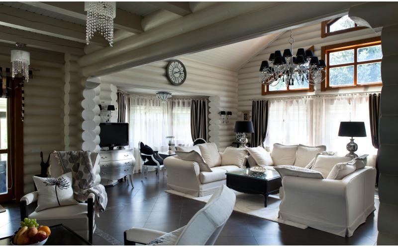 Дизайн бревенчатых домов фото